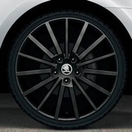 "Leichtmetallfelge Turini 7,5Jx18"" ET51 schwarz-matt"