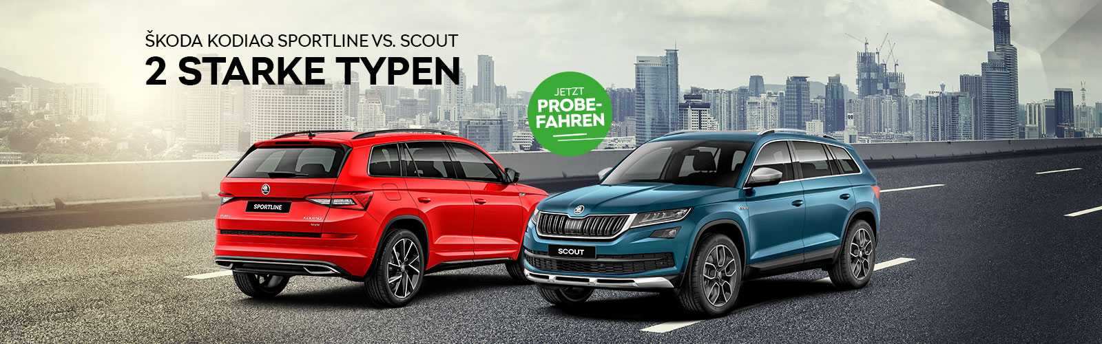 Kodiaq - 2 Starke Typen Background